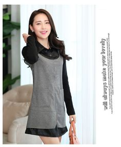 Long Sleeve dress, Cashmere Dress, Pocketed, Wool dress, grey dress, black dress, midi dress, cute dress, YRB, 0387