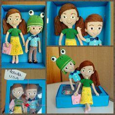 Caleb & Sophia dolls amigurumi