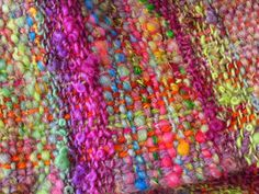 Hand woven scarf made from handspun art yarn by PastoralWool