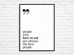 Plakat 40x50 cm love to eat - LTJ_Shop - Plakaty typograficzne