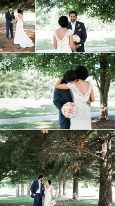 Nyk + Cali Wedding Photographers | Bowling Green, KY | Bride + Groom | First Look | Romantic | Woods | Pine Trees |