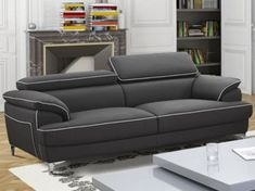 20 Superb Leather Sofa With Chaise Leather Sofa Sets For Living Room Living Room Sofa Design, Lounge Chair Design, Living Room Designs, Living Room Decor, Modern Sofa Designs, Sofa Set Designs, Sofa Furniture, Furniture Design, Grey Leather Sofa