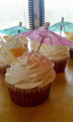 Pina Colada Cupcakes with Coconut Rum Buttercream