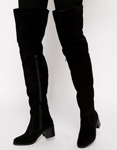 Enlarge ASOS KINGFISHER Suede Over the Knee Boot