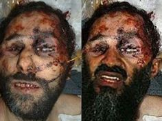 This image shows what appears to be Osama Bin Laden Dead at 54, but in fact is a doctored photograph of a look -a- like.