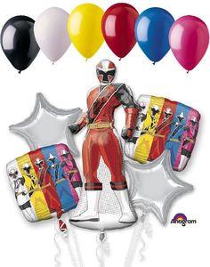Power Rangers Ninja Steel Balloon Bouquet