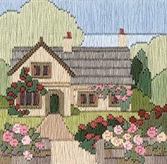 Rambling Rose Cottage 'Silken' Long Stitch Kit