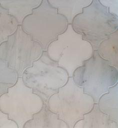 Arabesque Tile Oriental White Marble Honed Mission Stone Tile