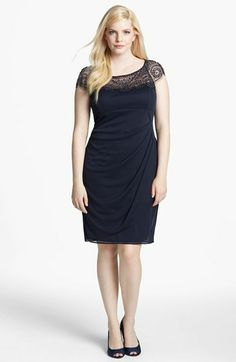 Xscape Embellished Ruched Sheath Dress (Plus Size) available at #Nordstrom