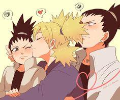 Shikadai, Temari, and Shikamaru #kiss