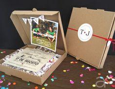Fun Box Wedding Invitation / Invitación Divertida de Boda en Caja www.alepineda.com