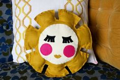 *love* this cute retro pillow by 3 of my favorite creative people Rachel, Elsie and Emma!