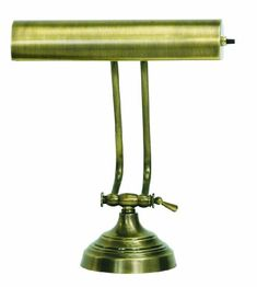 House Of Troy AP10-21-71 Advent Collection 10-1/2-Inch Adjustable Piano/Desk Portable Lamp, Antique Brass