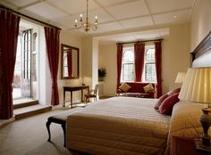 Bedrooms at the Elvetham Hotel.