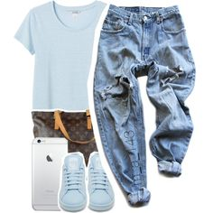 A fashion look from May 2015 featuring Monki t-shirts, Levi's pants and adidas sneakers. Browse and shop related looks.