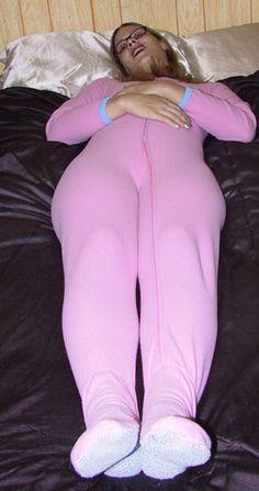Pink footed pajamas