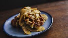 Waffle con mele alla cannella, waffle ricetta, ricette dolci facili e veloci