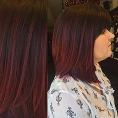 violet balayage and a bob :: RedBloom Salon
