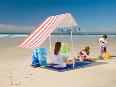 Make Some Shade with a Beach Tent - Lowe's Creative Ideas
