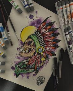 Creepy Tattoos, Skull Tattoos, Body Art Tattoos, Tattoo Drawings, Sleeve Tattoos, Graffiti Painting, Graffiti Art, Oni Tattoo, Tattoo Themes