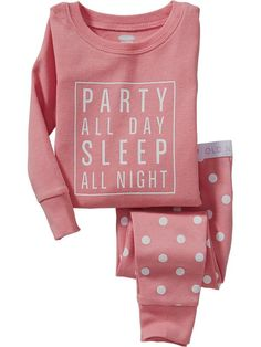 """""""Party All Day"""" PJ Sets for Baby"""