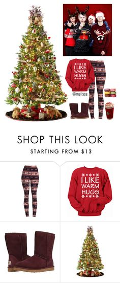"""Christmas Decorating with 5SOS!"" by mely-carrasco ❤ liked on Polyvore featuring UGG Australia and General Foam"