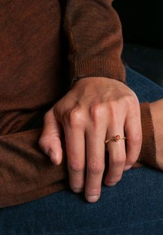 Greig Porter Malaya Garnet Stacking Ring