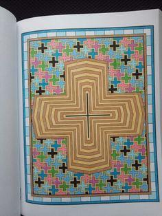 Mesmerizing Mandalas Randall McVey The Cross Creative Haven Coloring Book Copics