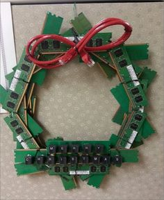 Christmas Wreath Made For Computer Parts