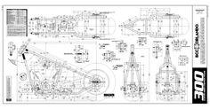 motorcycle blueprint images | Details about Custom Chopper 300 Rigid Frame Plans Blueprints