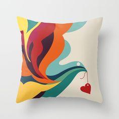 Buy Love Message Throw Pillow by Picomodi. Worldwide shipping available at Society6.com. Just one of millions of high quality products available.
