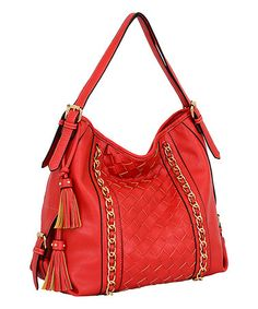 Another great find on #zulily! Red Bellagio Hobo by Mellow World #zulilyfinds