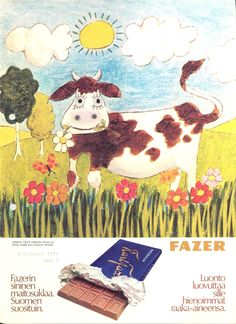 Karl Fazer ad from the Prince Caspian, Good Old Times, Ancient History, Vintage Ads, Finland, Kids Rugs, Chocolate Bars, Helsinki, Product Design