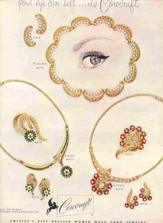 1952 Coro jewelry ad