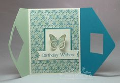 Backyard Basics Fancy Fold Card with Eastern Elegance Paper Sample #3 Open