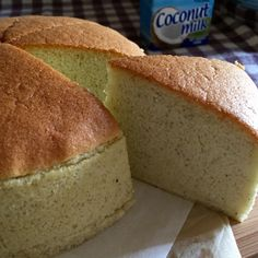 My Mind Patch: Banana Coconut Cotton Cake 香蕉椰香棉花蛋糕 Banana Sponge Cake, Banana Coconut Cake, Coconut Milk, Banana Chiffon Cake Recipe, Banana Cakes, Coconut Recipes, Banana Recipes, Ogura Cake, Asian Cake