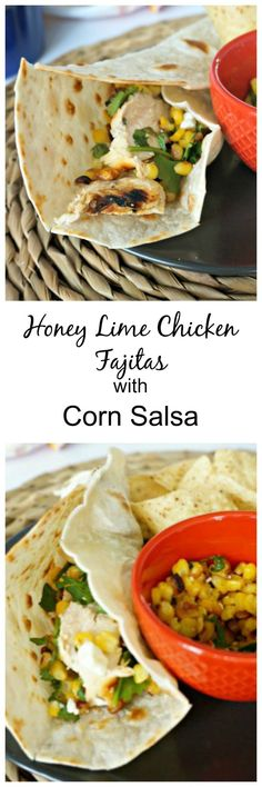 Get the party started with this recipe for Honey Lime Chicken Fajitas. Grilled chicken topped with a fresh salsa verde and corn salad combine to form an epic combination that is hard to believe is healthy! But it is!