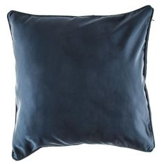 Navy Pillow Cover with Piped Edge