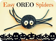 Halloween Treats: Easy Oreo Spiders