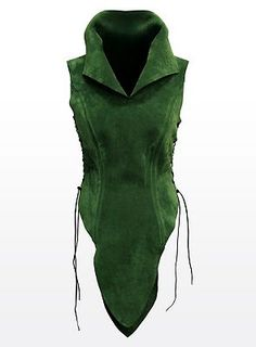 Tunic green. Very Tauriel-ish  Will need under layer if using uphol suede to create (good structuring with US)