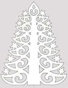 Diy Paper Christmas Tree, Christmas Crafts, Diy Nightstand, Paper Lace, Diy Design, Easy Crafts, Coloring Pages, Paper Crafts, Kirigami