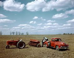 McCormick Farmall Tractor H and Grain Drill---this reminds me of the one picture I have of my Dad on a tractor