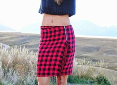 DIY fringe kilt from scarf (via Bloglovin.com )