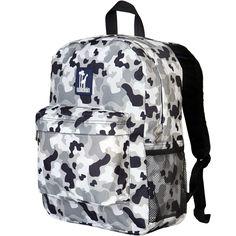 Gray Camo Kids Backpack