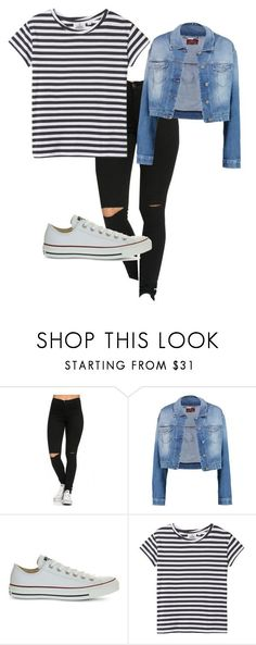 """HIGH SCHOOL OUTFITS"" by all-about-fashion-13 on Polyvore featuring 7 For All Mankind, Converse and Cheap Monday"
