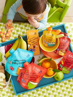 Ella's Kitchen organic pouches offer yummy goodness for babies and toddlers.