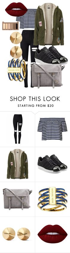 """""""CUTEEEE"""" by ravenmc on Polyvore featuring Topshop, adidas Originals, Michael Kors, Eddie Borgo, Lime Crime and Urban Decay"""