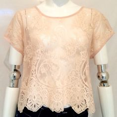 """Forever 21  Embroidered Sheer Top Final Price Reduction Forever 21 Embroidered Sheer Top with Allover Floral Design. Size M, Short Sleeves. Measurements: Armpit to armpit 22"""", Length of Top 21"""", Forever 21 Tops"""