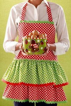 Christmas Aprons, Christmas Kitchen, Christmas Outfits, Christmas Sewing, Christmas Colors, Christmas Decor, Christmas Ideas, Merry Christmas, Christmas Gifts