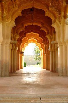 Lotus Mahal in Hampi in Karnataka